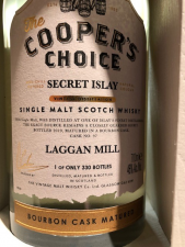 The Cooper's Choice Laggan Mill Secret Islay Bourbon Cask