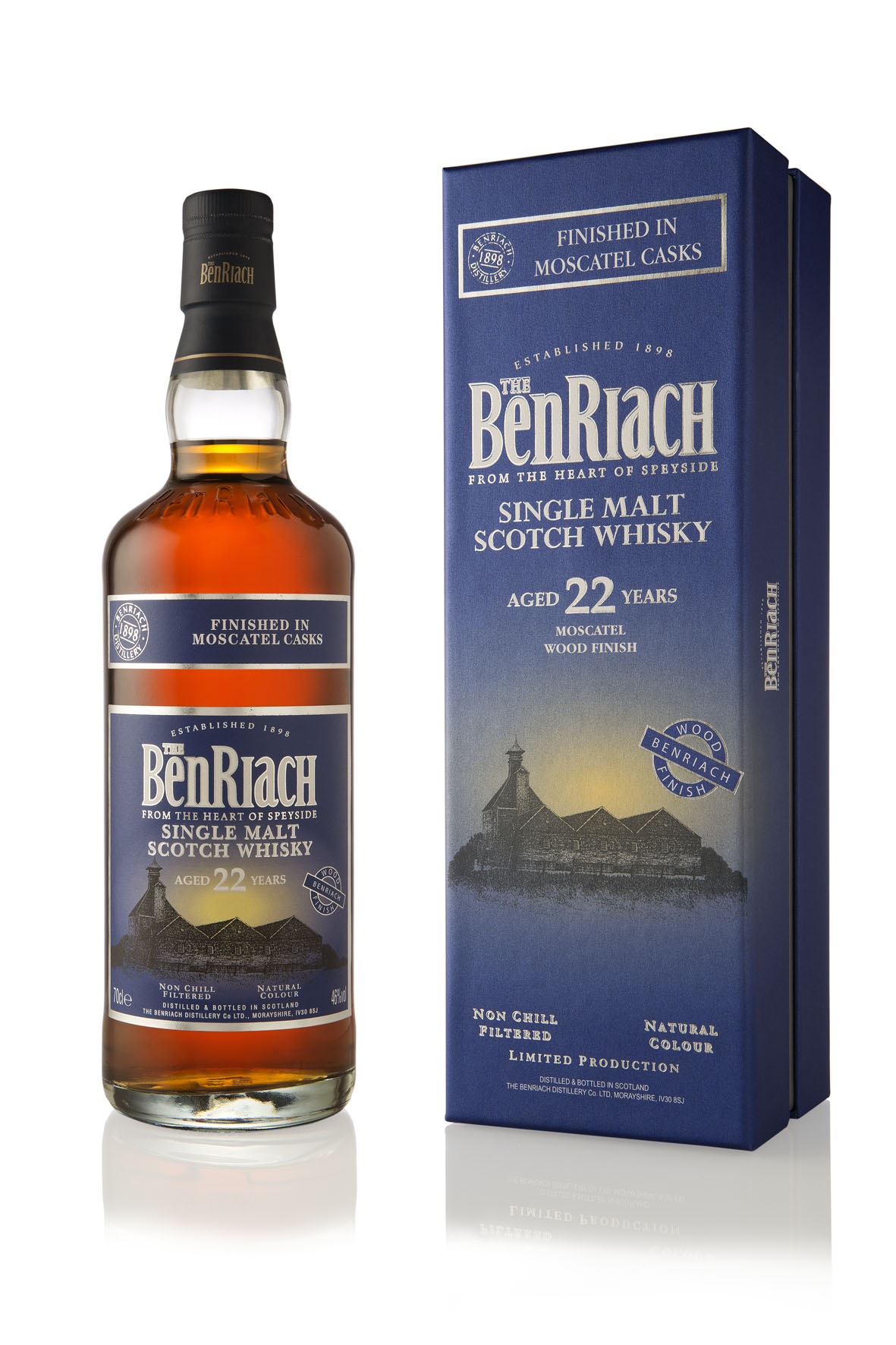 The Benriach 22 Years moscatel wood Finish