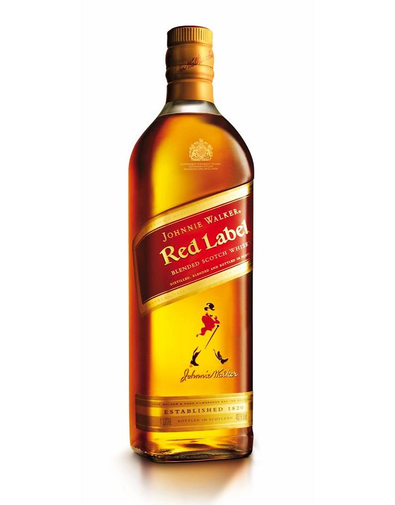 Johnny Walker red label liter