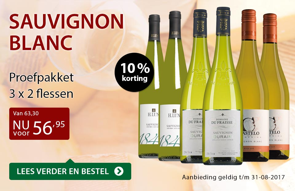 Proefpakket Sauvignon Blanc - rood