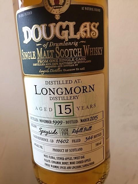 Douglas Longmorn 15 Years Refill Butt 344 Bottles