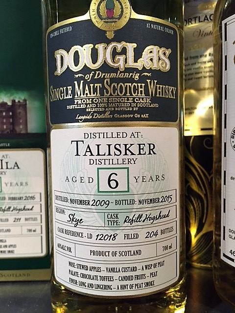 Douglas Talisker Distillery 6 Years old ( 204 Bottles )