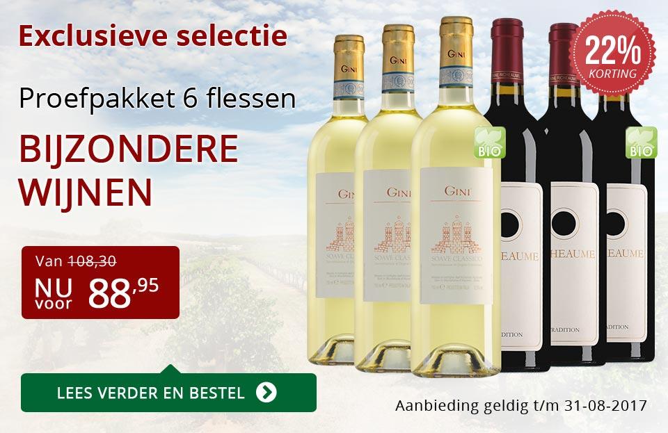 Proefpakket bijzondere wijnen augustus 2017 (88,95) - rood