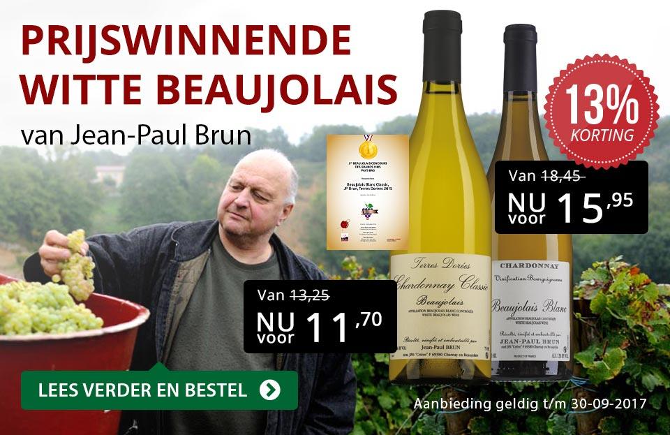 Prijswinnende witte beaujolais - rood