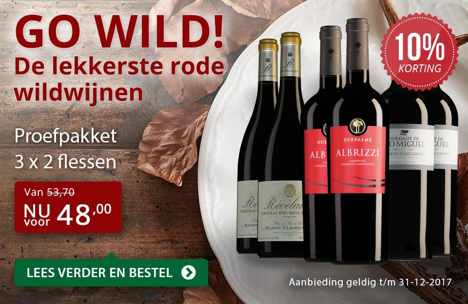 Proefpakket de lekkerste rode wildwijnen - rood