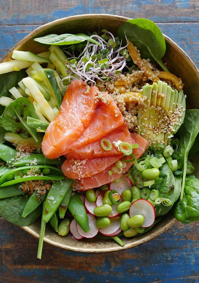 Sushi-bowl zalm van Mathijs Vrieze