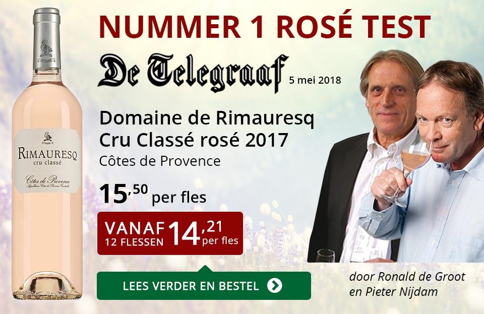 Dia Nr 1 Telegraaf rosé test - Rimauresq Cru Classé 2017 - rood