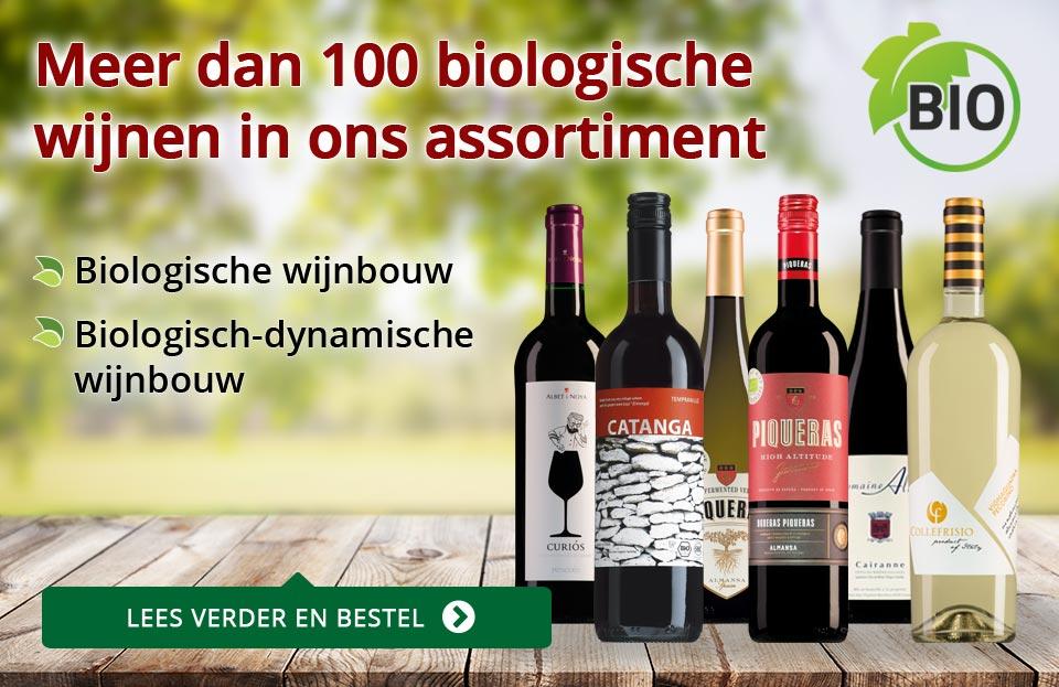 Meer dan 100 biowijnen in ons assortiment - rood