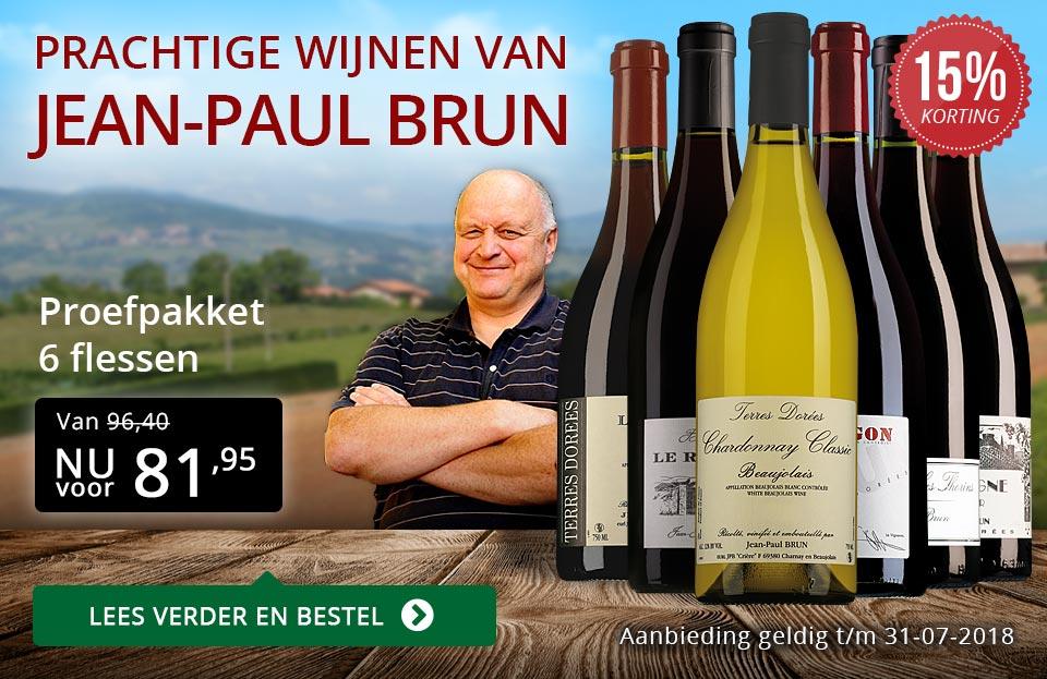 Jean-Paul Brun prachtige wijnen (81,95) - rood