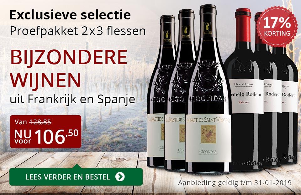 Proefpakket bijzondere wijnen januari 2019 (106,50) - rood