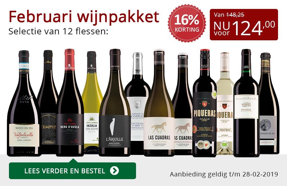Wijnpakket wijnbericht februari 2019 (124,00) - rood