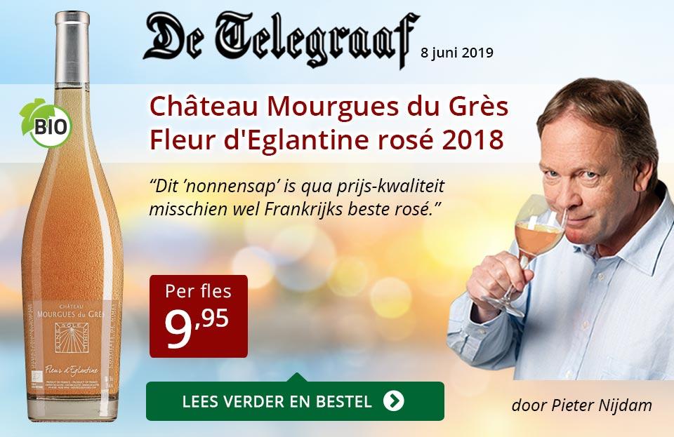 Telegraaf vermelding - Mourgues du Gres ZP - rood
