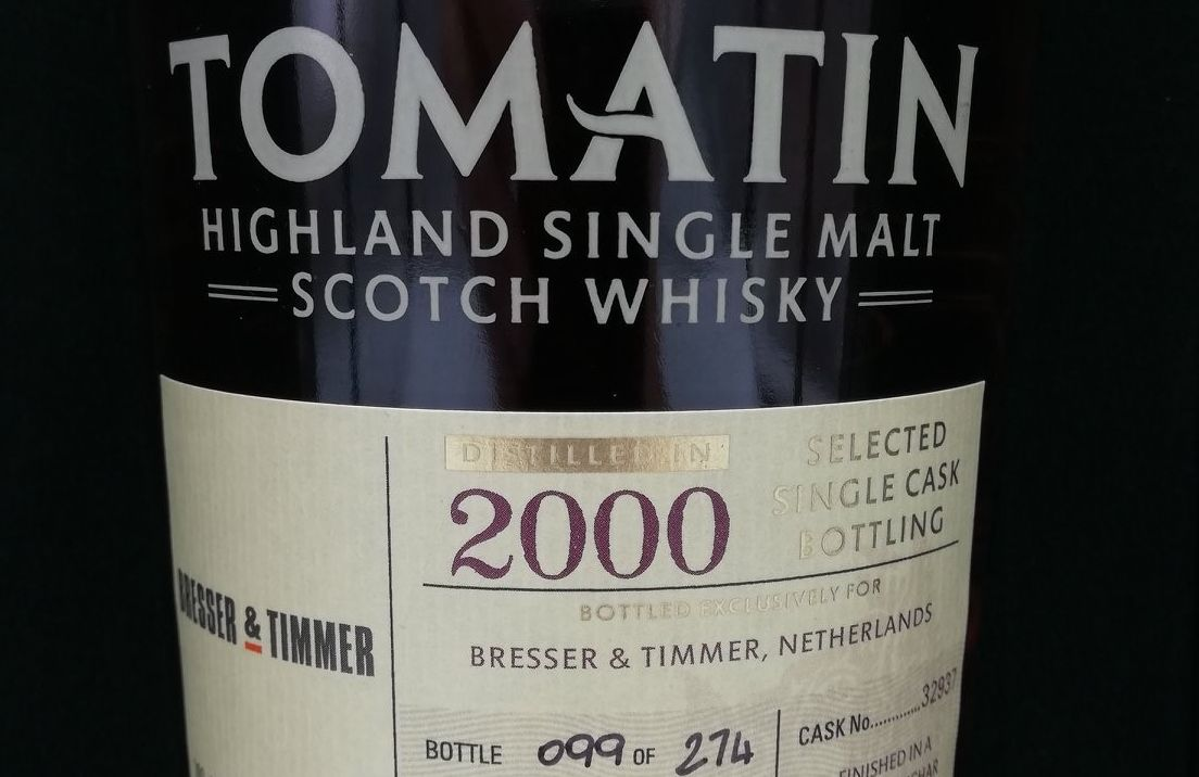 De Tomatin 2000 Single Cask Botteling Bresser & Timmer Dechar Dechar Verdejo Cask 54,4 % 2000
