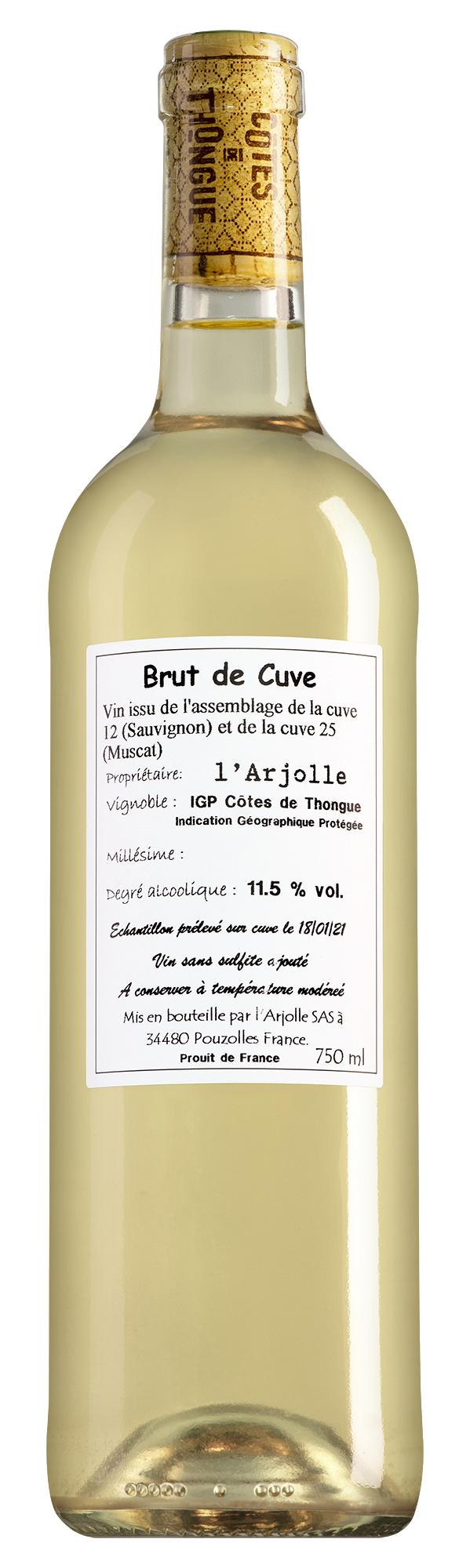 Domaine de l'Arjolle Côtes de Thongue Brut de Cuve Sauvignon Blanc-Muscat