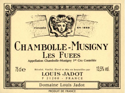 Chambolle Musigny  Les Fuees 1e Cru 2010